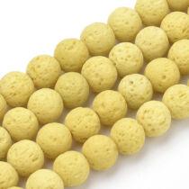 Sárga lávakő ásványgyöngy (8mm)/10db