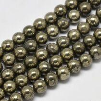 Pirit ásványgyöngy (8mm)/10db