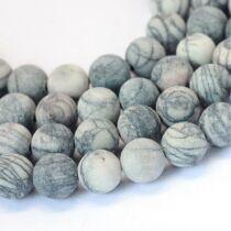 Matt selyemkő ásványgyöngy (6mm)/10db