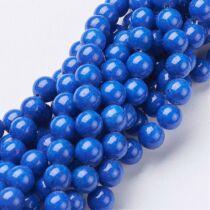 Mashan Jade (kék) ásványgyöngy (8mm)/10db