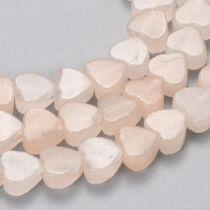 Pink aventurin szív alakú ásványgyöngy (6mm)