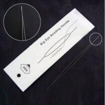 Nagy lyukú gyöngyfűző tű (57mm)