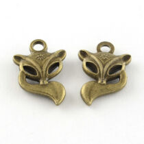 Antikolt bronz színű róka fityegő