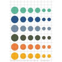 2020-Spring-Summer-1 Üveglencsés ékszerpapír több méret A5