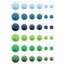 Fények-2 Üveglencsés ékszerpapír több méret A5