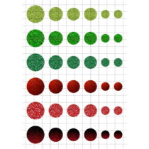 Glitter-3 Üveglencsés ékszerpapír több méret A5