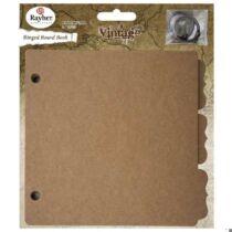 Gyűrűskönyv, paszpartus, 16,1x15,2 cm