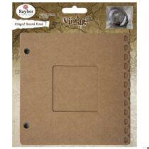 Gyűrűskönyv, paszpartus, 15,2x15,2 cm