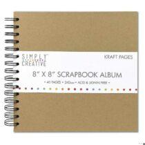 Scrapbook Album Plain, 20,3x20,3cm, 40 lap