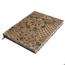 Tangle jegyzetfüzet Jungle, kraft, 15,9x20,9cm, 160 lap