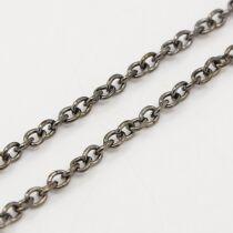 Fekete keresztezett szemű lánc (2x3mm)