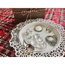 Antikolt ezüst színű alkotócsomag (7)
