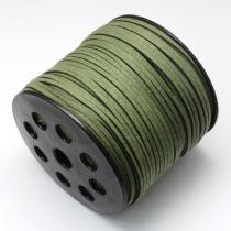 Khaki zöld hasított bőrszál (3mm)