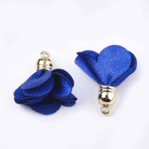 Sötét kék színű virág alakú bojt (30x30mm)