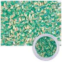 Zöld színű flitteres díszítő elem