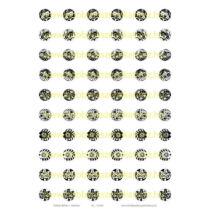 Fekete-fehér-1 Üveglencsés ékszerpapír 12mm 10 féle minta A5