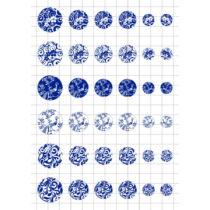 Kékfestős-1 Üveglencsés ékszerpapír több méret A5