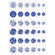 Kékfestős-2 Üveglencsés ékszerpapír több méret A5