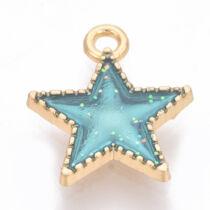Kék zománcozott csillag fityegő
