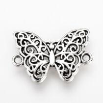 Antikolt ezüst színű pillangó alakú kapcsolóelem