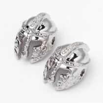 Antik ezüst színű sisak alakú gyöngy