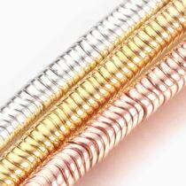 10db Arany színű négyzetes szintetikus hematit köztes (4x4mm)