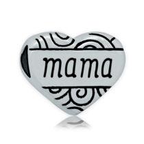 316 Nemesacél Mama szív gyöngy (10x12mm)