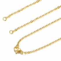 Arany színű nemesacél nyaklánc (56cm)