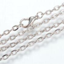 Antikolt ezüst színű nyaklánc (60cm)