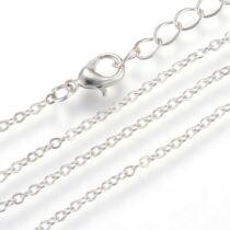 Antikolt ezüst színű nyaklánc (50cm)