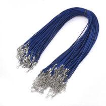 Sötét kék viaszolt zsinór nyaklánc