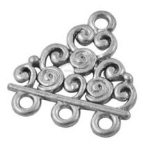 Antikolt ezüst színű 3 hurkos kapcsolóelem