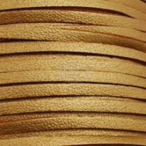 Arany színű hasított bőrszál (3mm)
