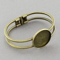 Antikolt bronz színű alacsonyabb peremű karperecalap (25mm)