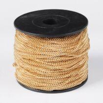 Világos arany színű vékony csavart lánc (2x2,7mm)