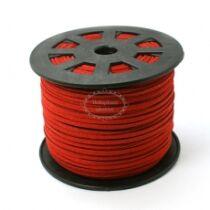 Piros hasított bőrszál (3mm)