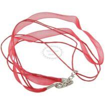 Piros színű organza nyaklánc