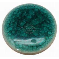 Türkiz színű porcelán kaboshon (20mm)