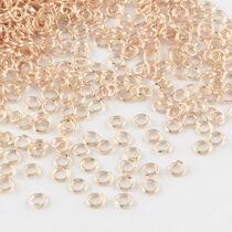 10db rozé arany színű szimpla szerelőkarika (8mm)