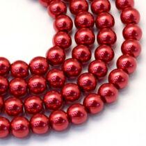 30db Piros tekla üveggyöngy (6mm)