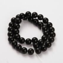 Fekete obszidián ásványgyöngy (4mm)/10db