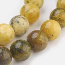 Sárga türkiz ásványgyöngy (6mm)/10db