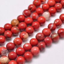 Vörös jáspis ásványgyöngy (6mm)/10db