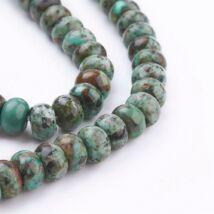Csiszolt African Turquoise ásványgyöngy (8x5mm)/10db