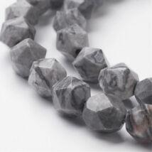 Selyemkő csiszolt ásványgyöngy/5db