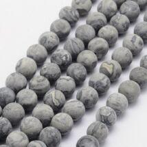 Silk stone/ Netstone ásványgyöngy (8mm)/10db