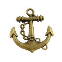 Antikolt bronz színű vasmacska medál