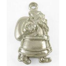 Antikolt ezüst színű mikulás zsákkal fityegő