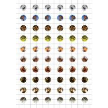 Lovak-1 Üveglencsés ékszerpapír 12mm 10 féle minta A5