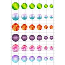Fények-4 Üveglencsés ékszerpapír több méret A5